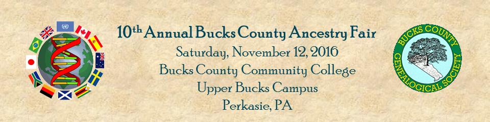 Bucks County Ancestry Fair